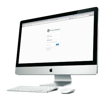 WordPress login on an iMac